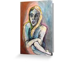 Water Lady Greeting Card