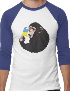 Oooooz Chimp Men's Baseball ¾ T-Shirt