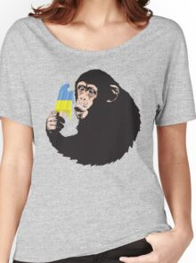 Oooooz Chimp Women's Relaxed Fit T-Shirt