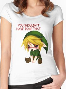 You Shouldn't Have Done That - Creepypasta Chibi Ben Women's Fitted Scoop T-Shirt