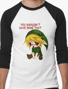 You Shouldn't Have Done That - Creepypasta Chibi Ben Men's Baseball ¾ T-Shirt