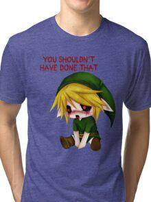 You Shouldn't Have Done That - Creepypasta Chibi Ben Tri-blend T-Shirt