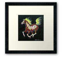 Four Of Hearts Pony Framed Print