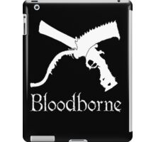 Bloodborne Saw Cleaver logo and Repeating Pistol  videogame t shirt iPad Case/Skin