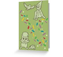 Candy Trail. Greeting Card