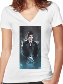 Gotham - The Penguin Women's Fitted V-Neck T-Shirt