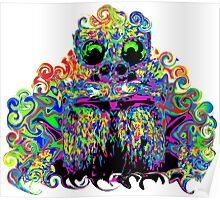 PSYCHEDELIC TARANTULA FACE Poster