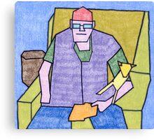 Bill Senior & Junior Canvas Print