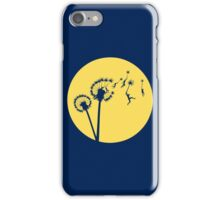 Dandylion Flight - Reversed Circular iPhone Case/Skin