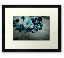 Textured Orchids Framed Print