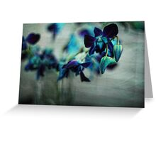 Textured Orchids Greeting Card