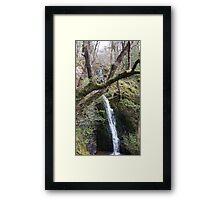 Waterfall Scene Slide Framed Print