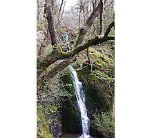 Waterfall Scene Slide Photographic Print