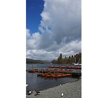 Lake Windermere Canoes Photographic Print