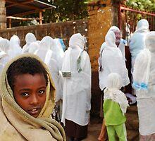 Ethiopian kid going to church by Euphemia
