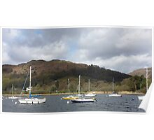 Boats on Lake Winderemere Poster
