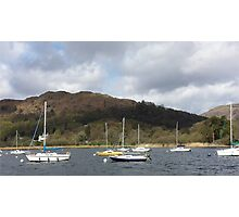 Boats on Lake Winderemere Photographic Print