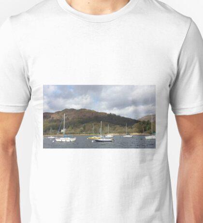 Boats on Lake Winderemere Unisex T-Shirt