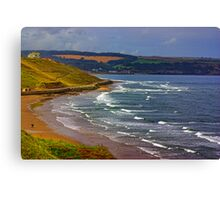 Whitby to Sandsend Canvas Print