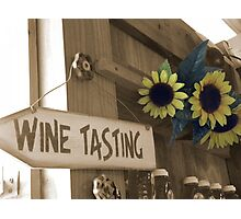 Country Wine Tasting Photographic Print