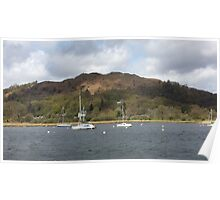 Boats Lake Windermere Poster