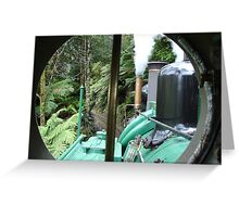 Engine room window Greeting Card