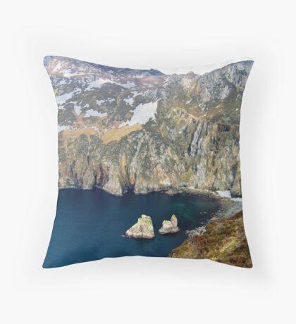 Slieve League, Ireland Throw Pillow