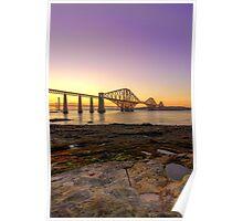 Forth Bridges at Sunset Poster