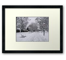Village Green, Holiday Season, Bar Harbor, Maine Framed Print