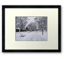 Village Green, Holiday Season, Bar Harbor, Maine Framed Print