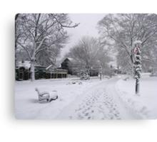 Village Green, Holiday Season, Bar Harbor, Maine Metal Print