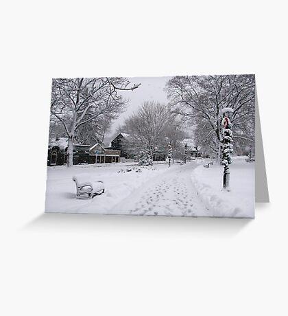 Village Green, Holiday Season, Bar Harbor, Maine Greeting Card