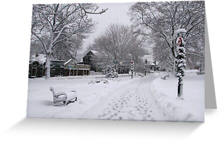 Village Green, Holiday Season, Bar Harbor, Maine by Dan Hatch