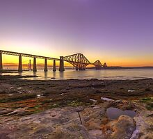 Panoramic LE HDR Sunset of the Forth Rail Bridge by Miles Gray