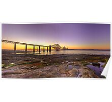 Panoramic LE HDR Sunset of the Forth Rail Bridge Poster