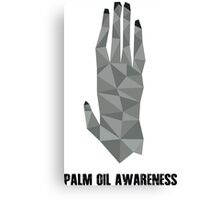 Palm Oil Awareness Tee Canvas Print