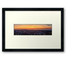 Panoramic View of the Edinburgh Skyline Framed Print