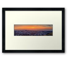 Panoramic View of the Edinburgh Skyline (HDR) Framed Print