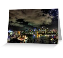 City Lights - Moods Of A City - The HDR Experience Greeting Card