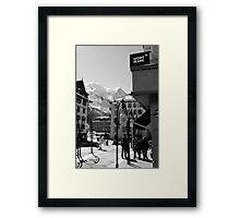 Mont Blanc Street Framed Print