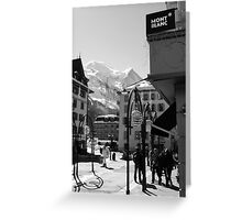 Mont Blanc Street Greeting Card
