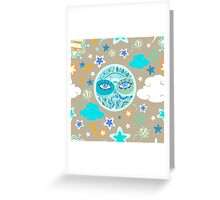 - Moon pattern - Greeting Card