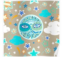 - Moon pattern - Poster