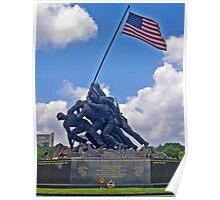 *U.S.M.C. War Memorial* Poster