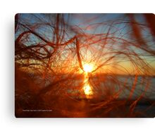 Sunset In My Hair | Pond Point, New York  Canvas Print