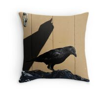 Crow Habitat Throw Pillow