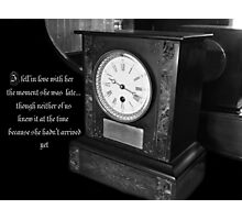 The Lateness of Love Photographic Print