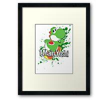 I Main Yoshi - Super Smash Bros. Framed Print