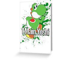 I Main Yoshi - Super Smash Bros. Greeting Card