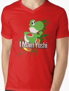 I Main Yoshi - Super Smash Bros. Mens V-Neck T-Shirt